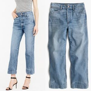 J. Crew Point Sur Workwear Crop High Rise Jeans 32